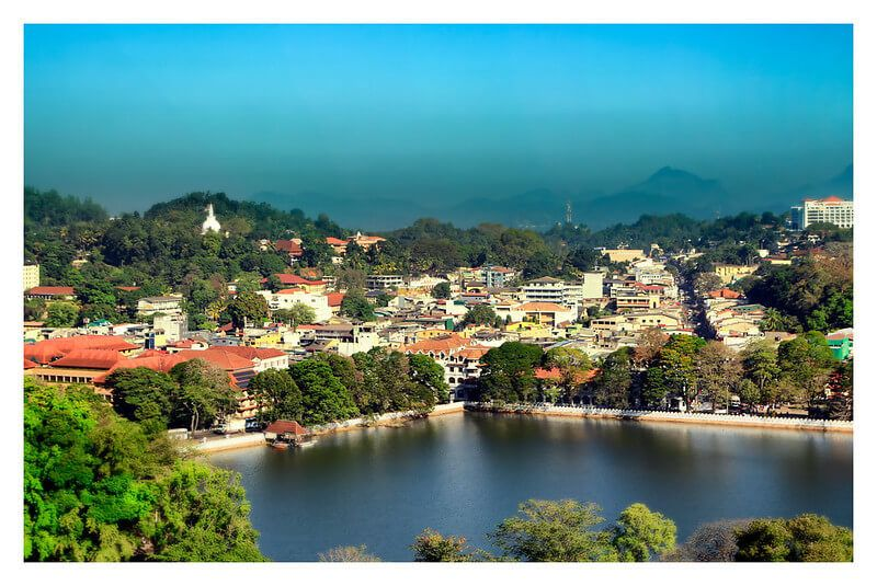 Kandy lake, city and various attractions