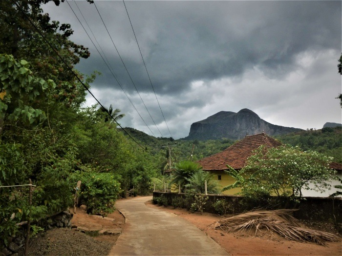Stormy weather in Meemure, Sri Lanka
