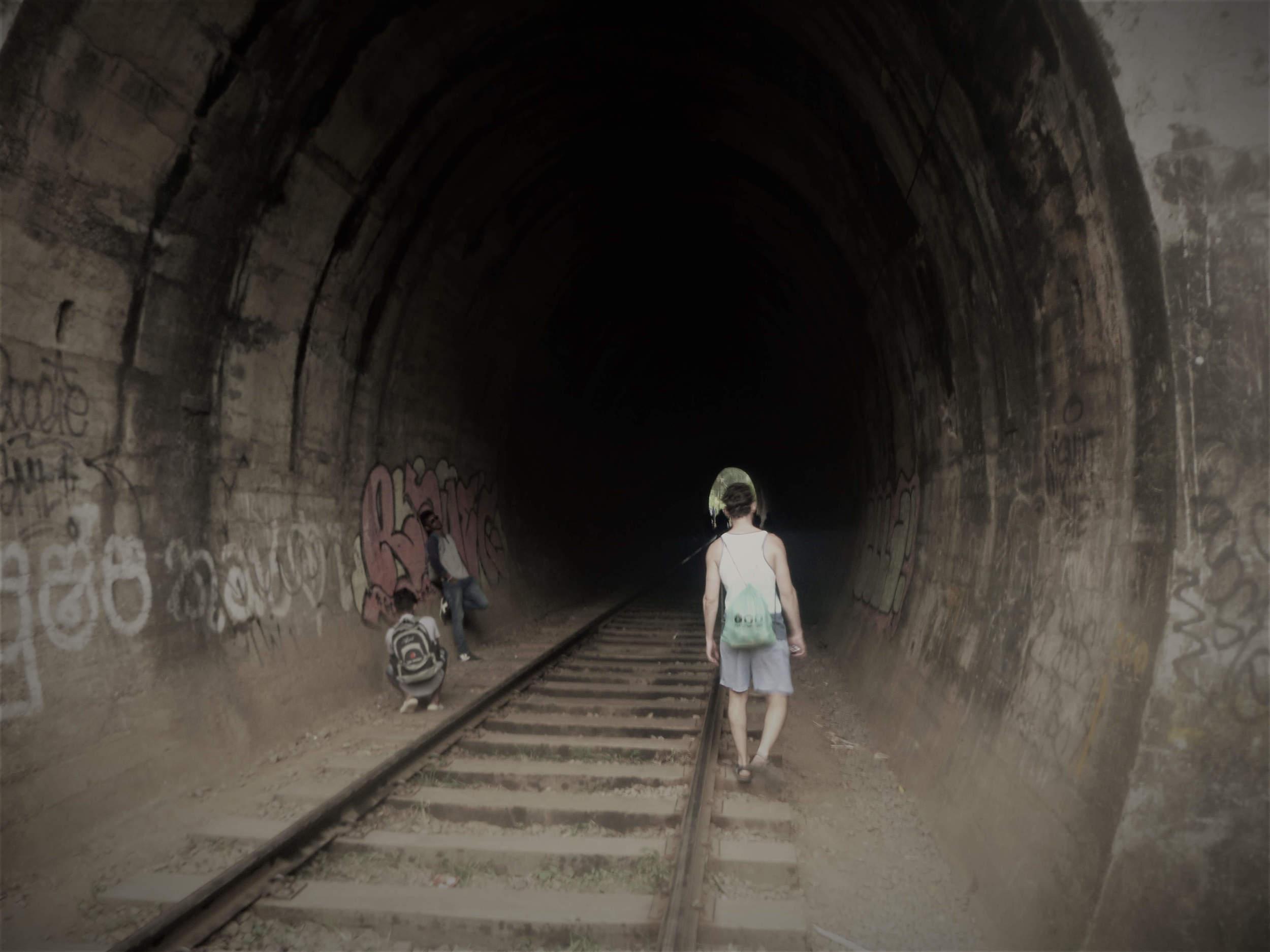 A man travelling alone in Sri Lanka