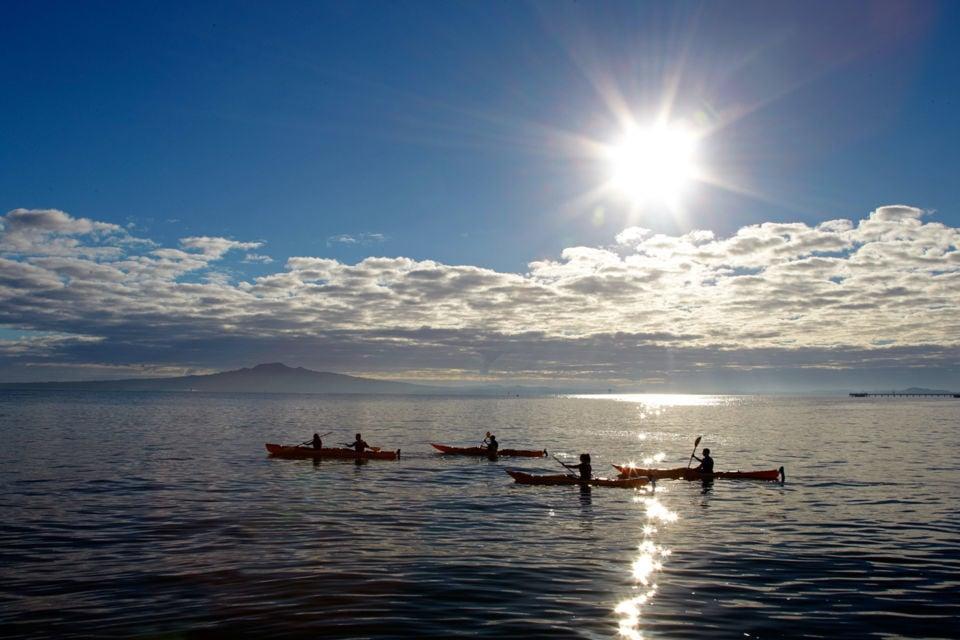 Kayak around the Volcanic Island of Rangitoto in Auckland