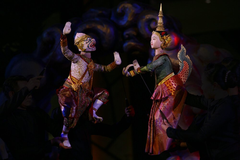Amusing Bangkok puppet show.
