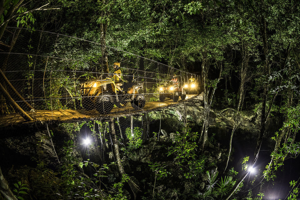Jungle night adventure in Cancun