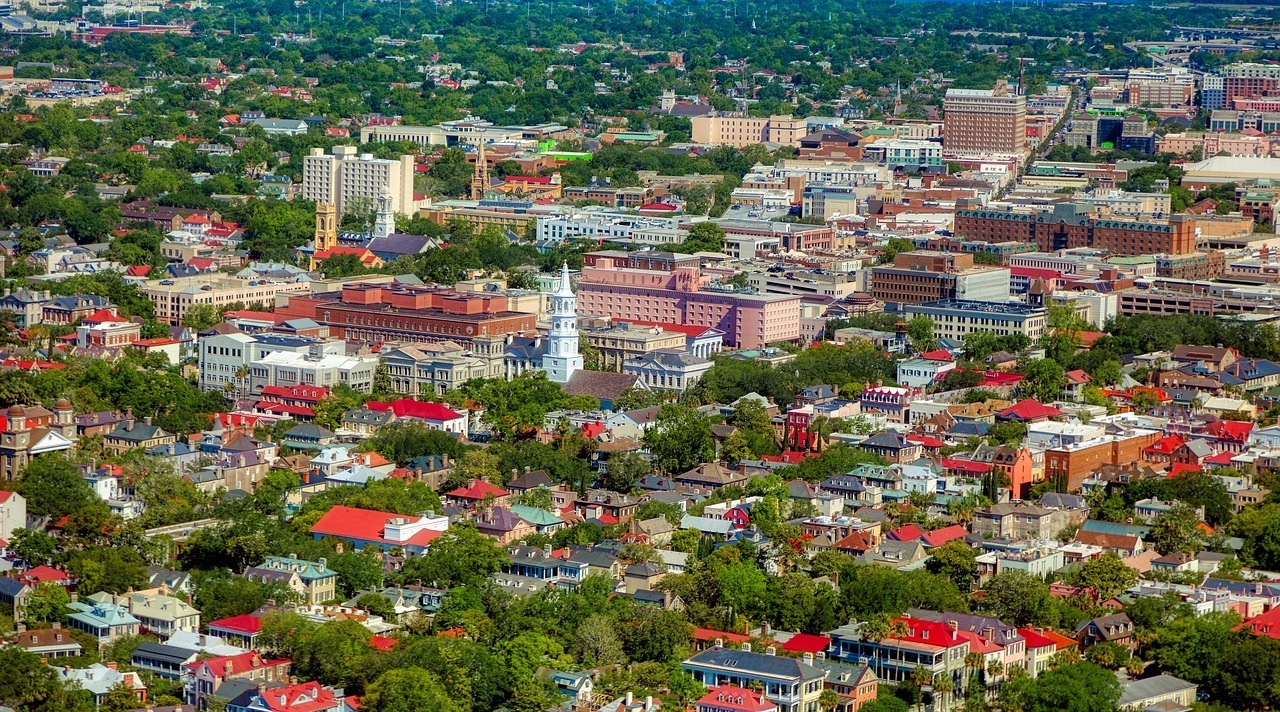 Aerial View of Charleston