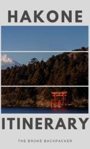 Hakone Itinerary PIN