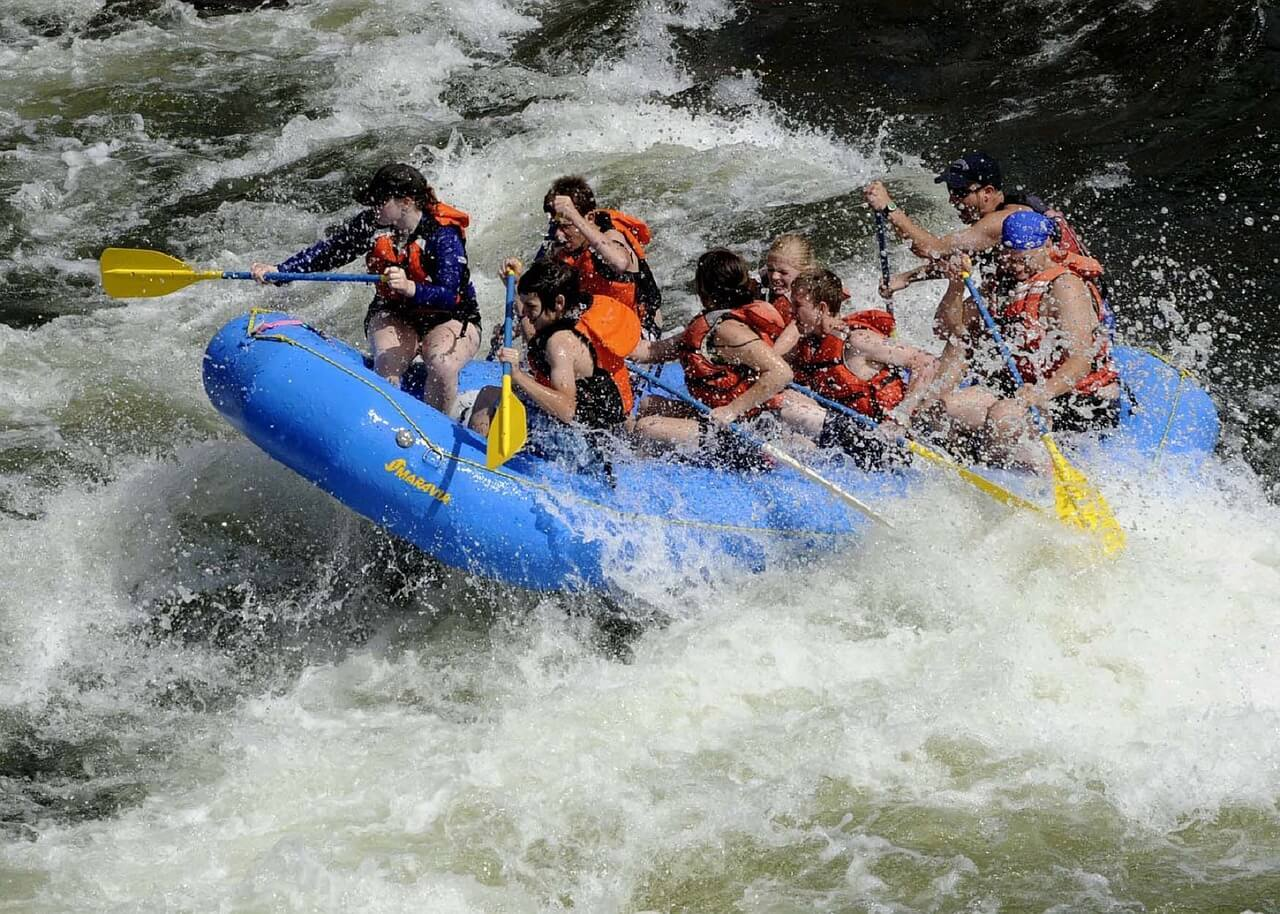Hit the hair raising white waters of the Middle Fork