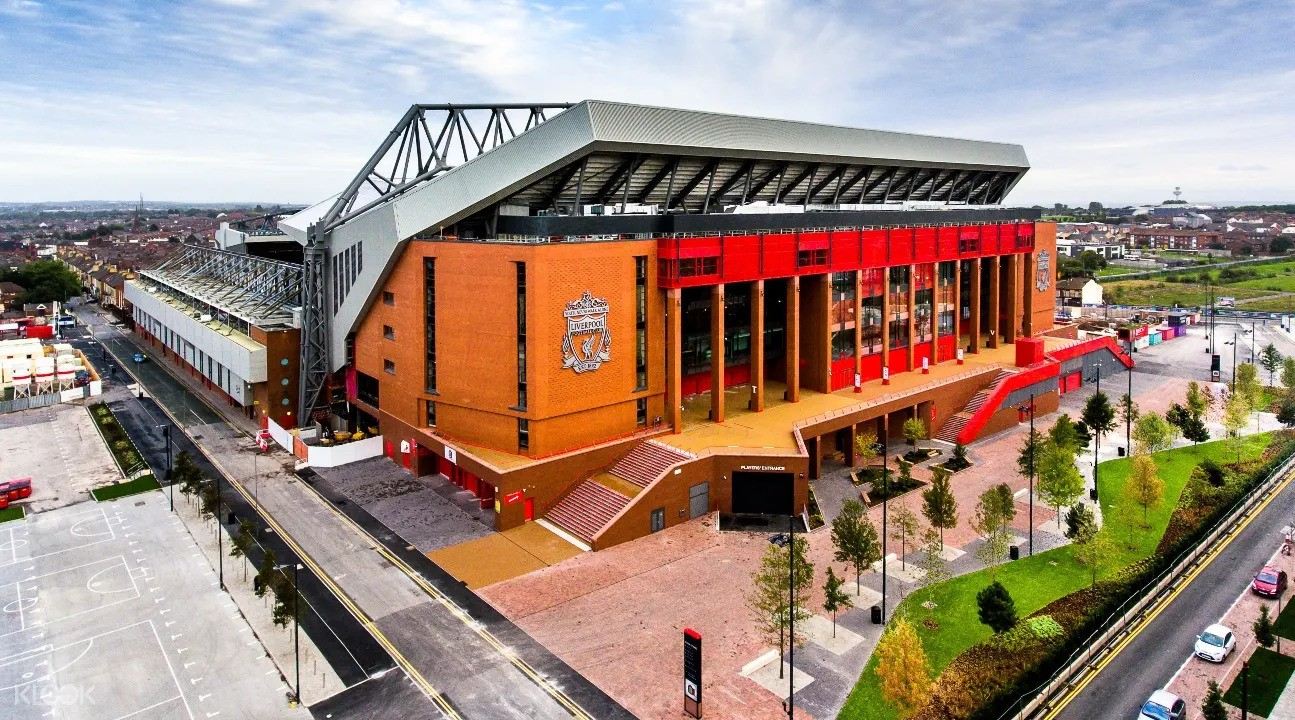 Explore the football club stadium and museum in Liverpool.