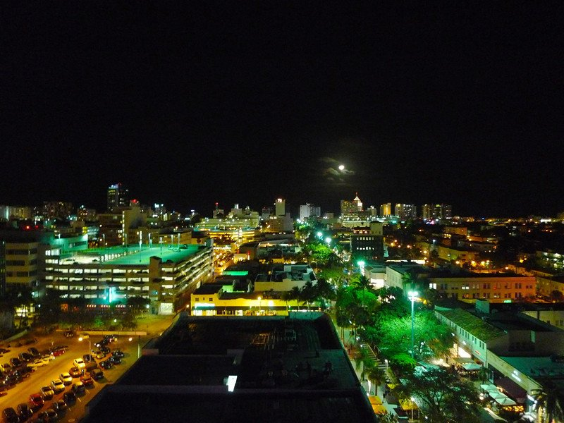 Rooftop view at Juvia in Miami