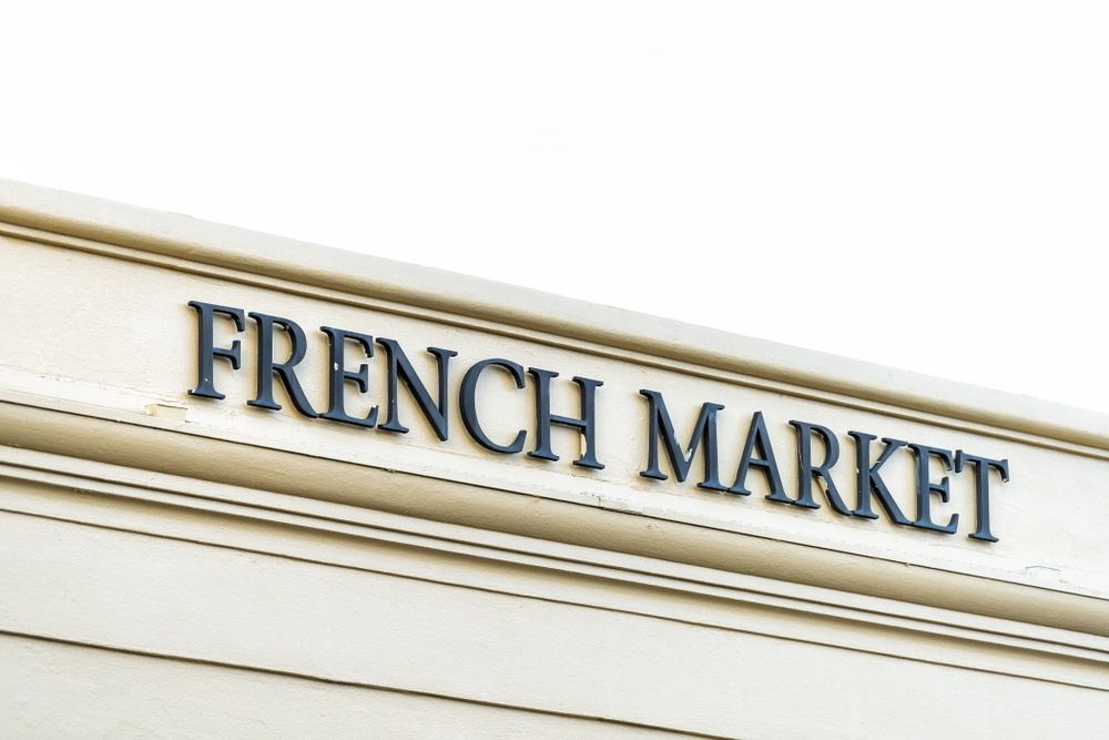 French Market sign in New Orleans