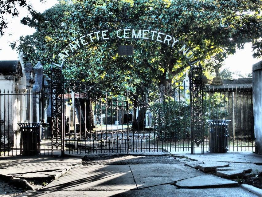 New Orlean's oldest municipal cemetery, Lafayette.
