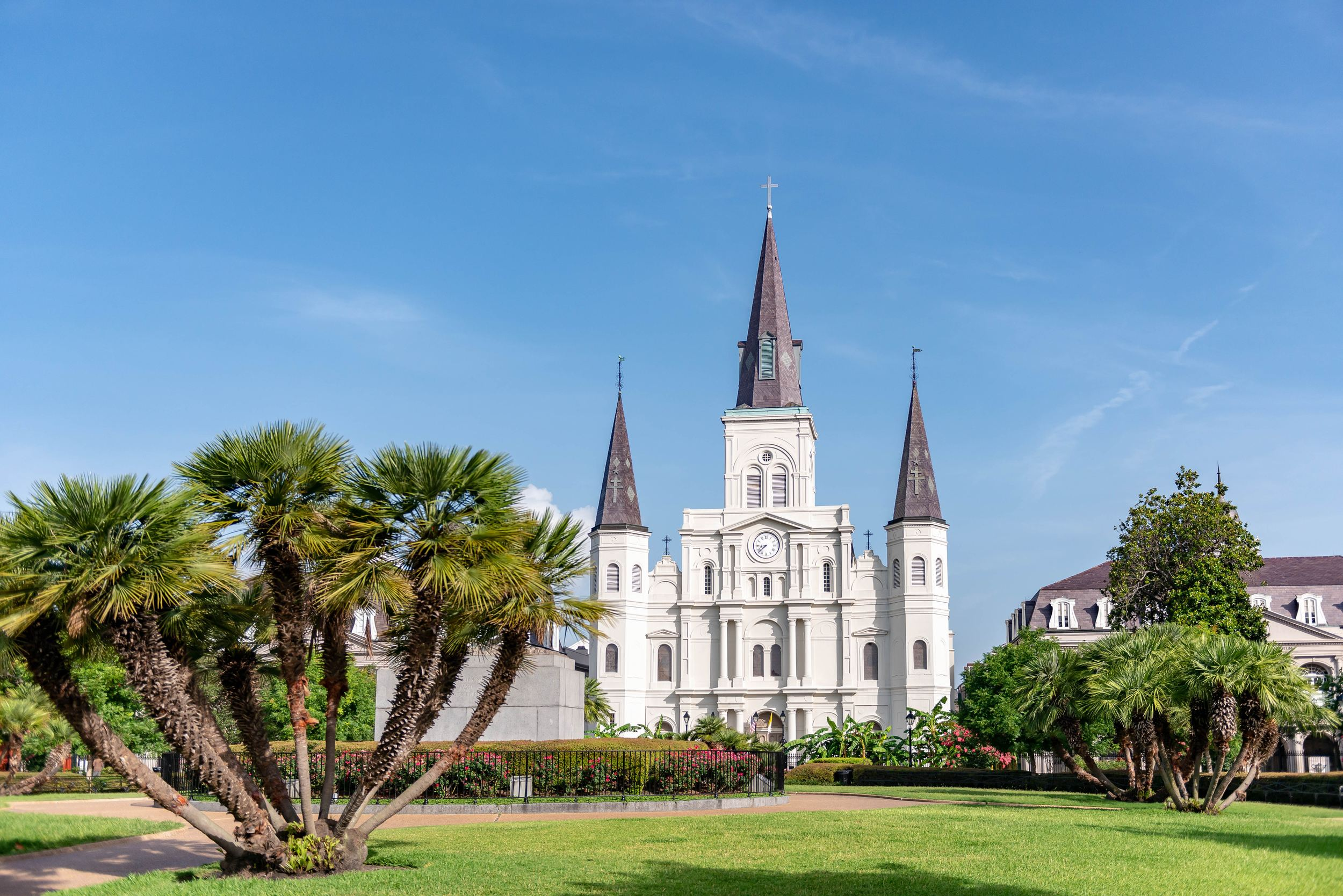 Old Catholic cathedral in New Orleans, St Louis Cathedral.
