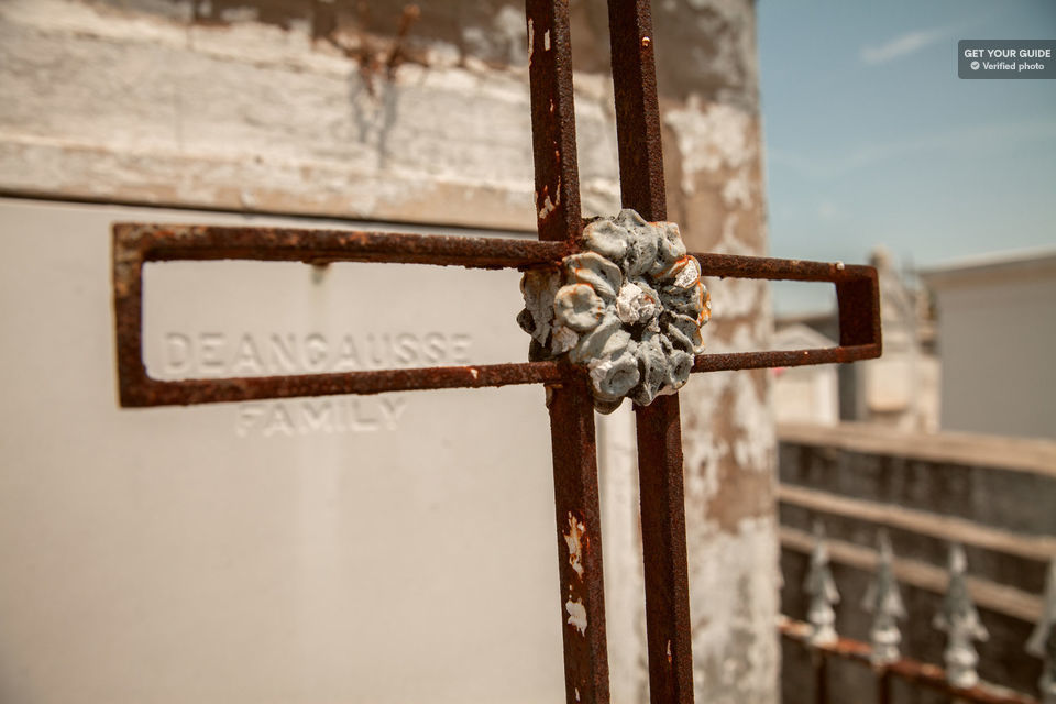 Cross at St Louis Cemetery in New Orleans.