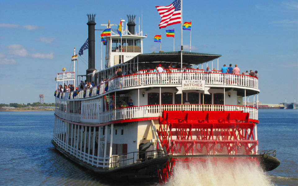 Ride the Steamboat Natchez in New Orleans.