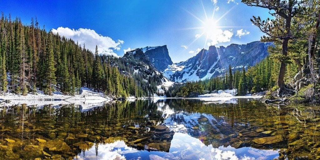 A national park landscape in America best explored by campervan