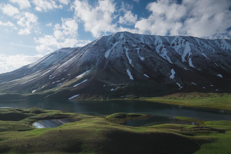 tulpar kul lenin peak in kyrgyzstan