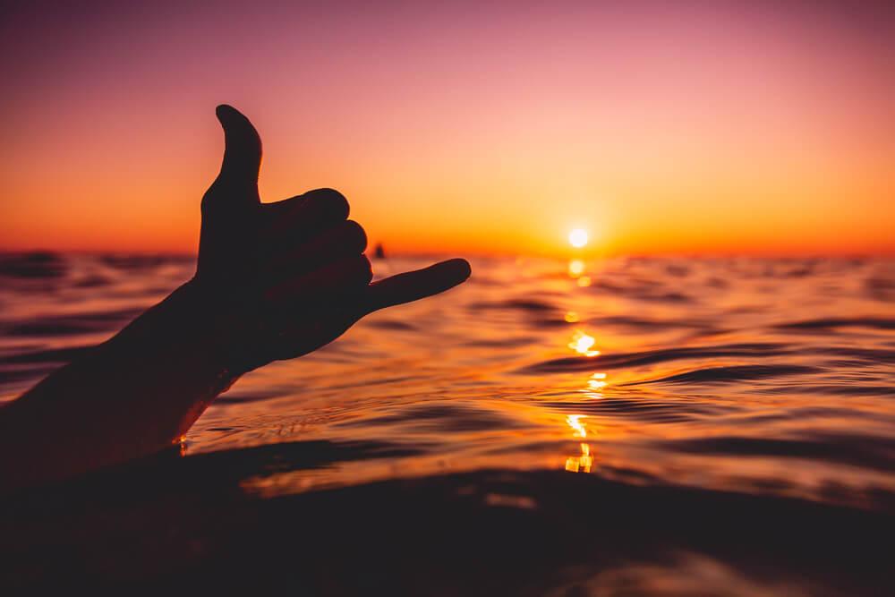 Flashing the shaka at Sri Lanka's surf
