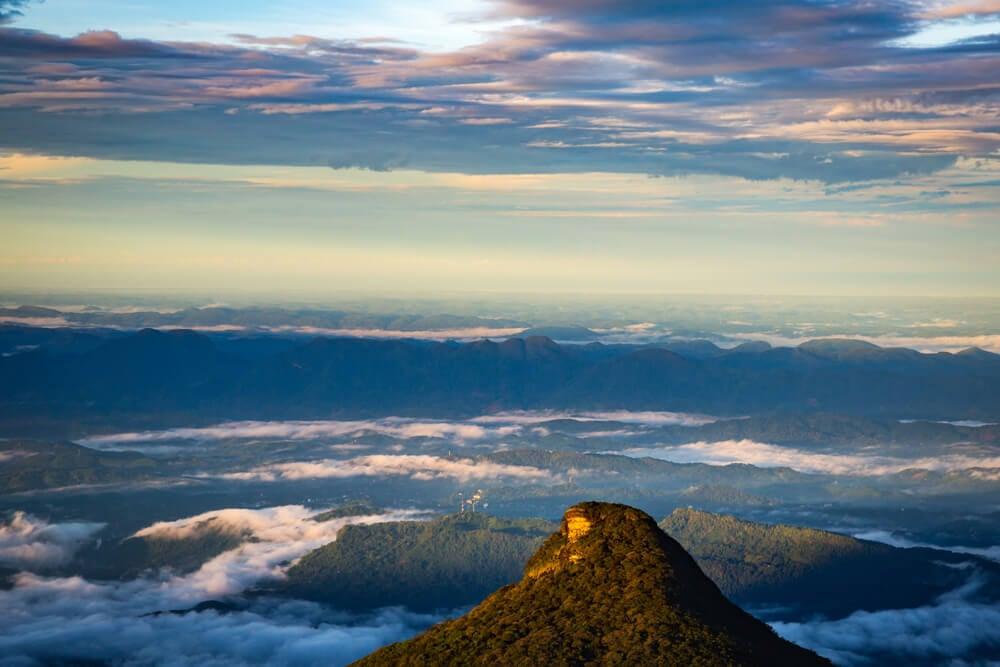 Adam's Peak - the tallest mountain in Sri Lanka