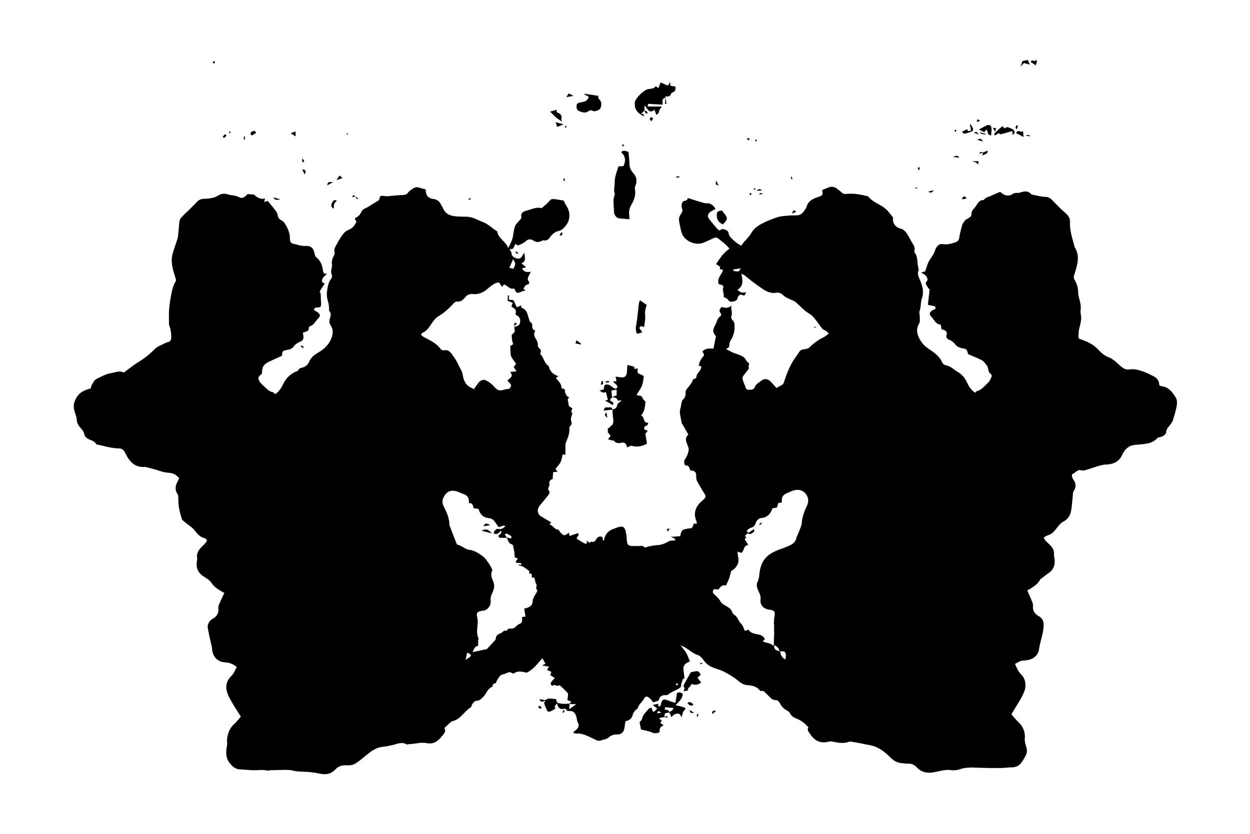 A rorshach test - black and white and your interpretation