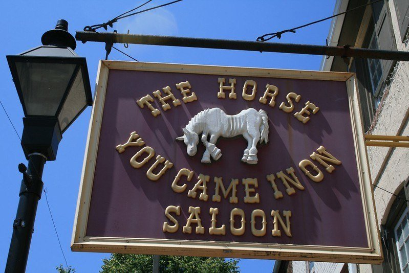 Have a drink at The Horse You Came In On Saloon