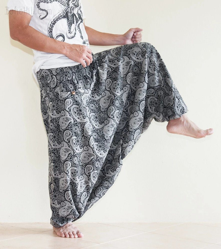 BohoHill Smocked Waist Harem Pants