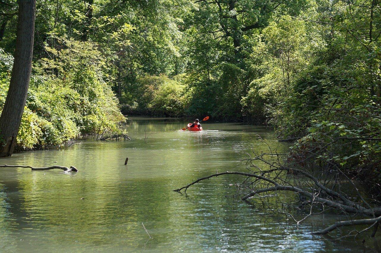 Belle Isle Island River in Detroit