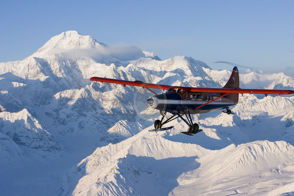 Do a fly by of Denali