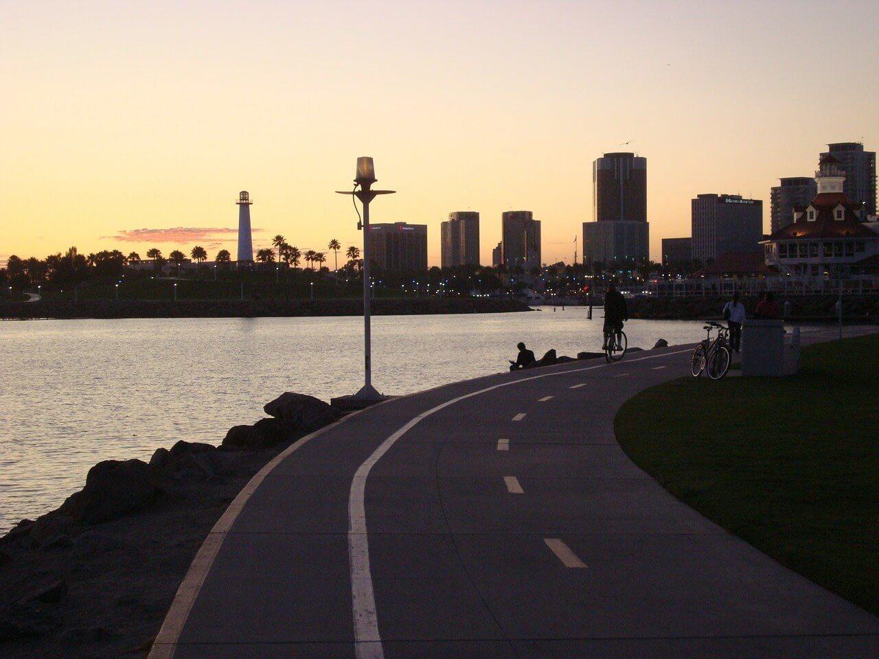 Sunset in Long Beach