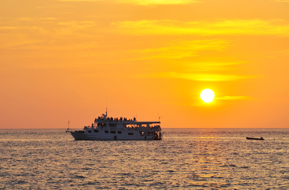 Watch the Sunset From The Sea Curacao