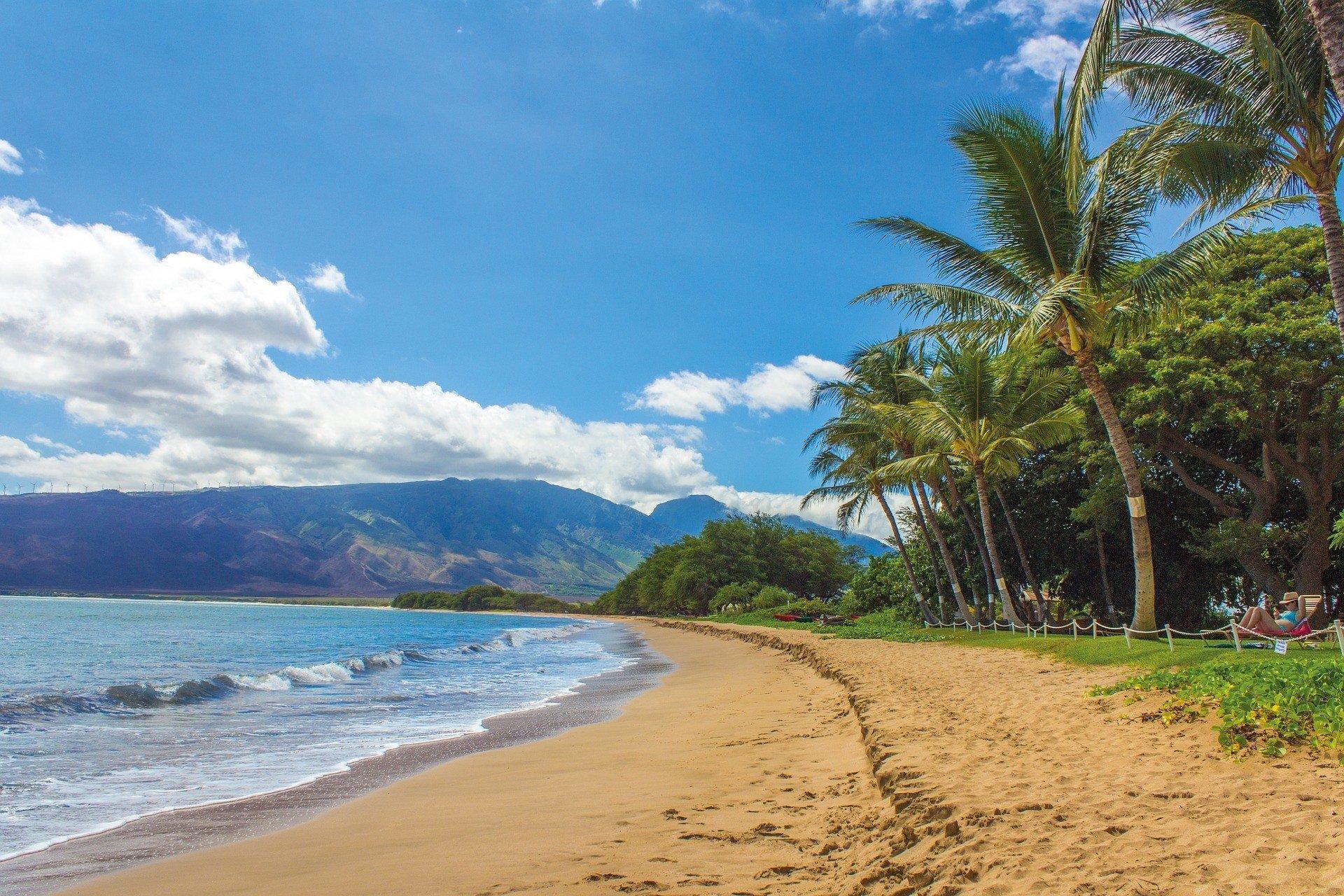 Prestine beach in Maui, Hawaii