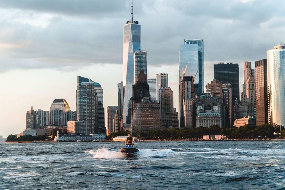 jetski on New York Harbor