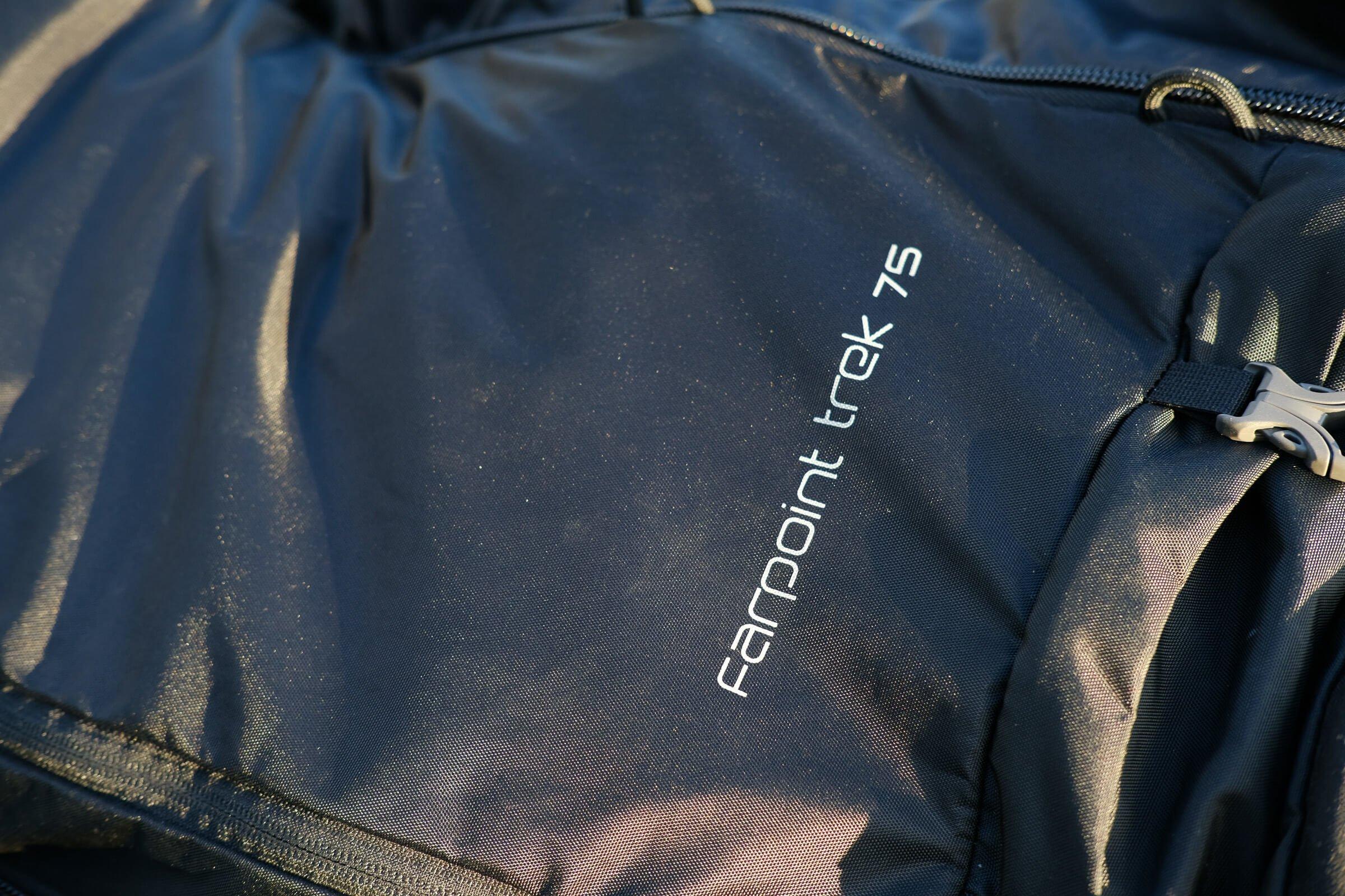 nylon material osprey farpoint trek 75