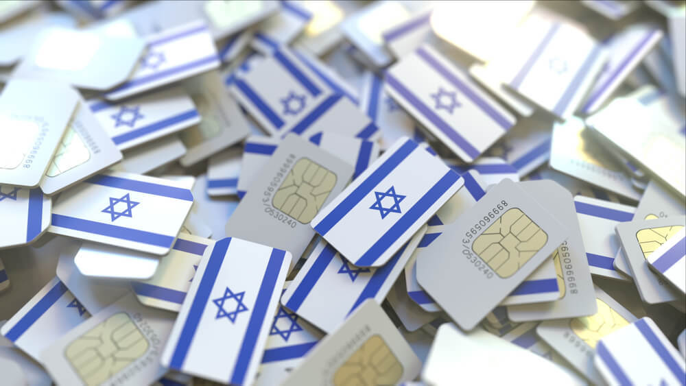 A collection of Israel SIM cards for travellers