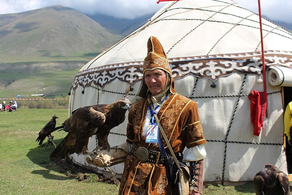 eagle hunter in kyrgyzstan