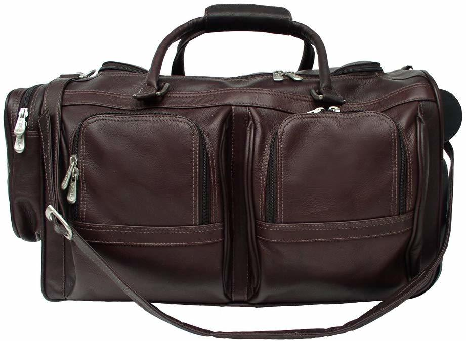 Piel Leather Duffel with Wheels