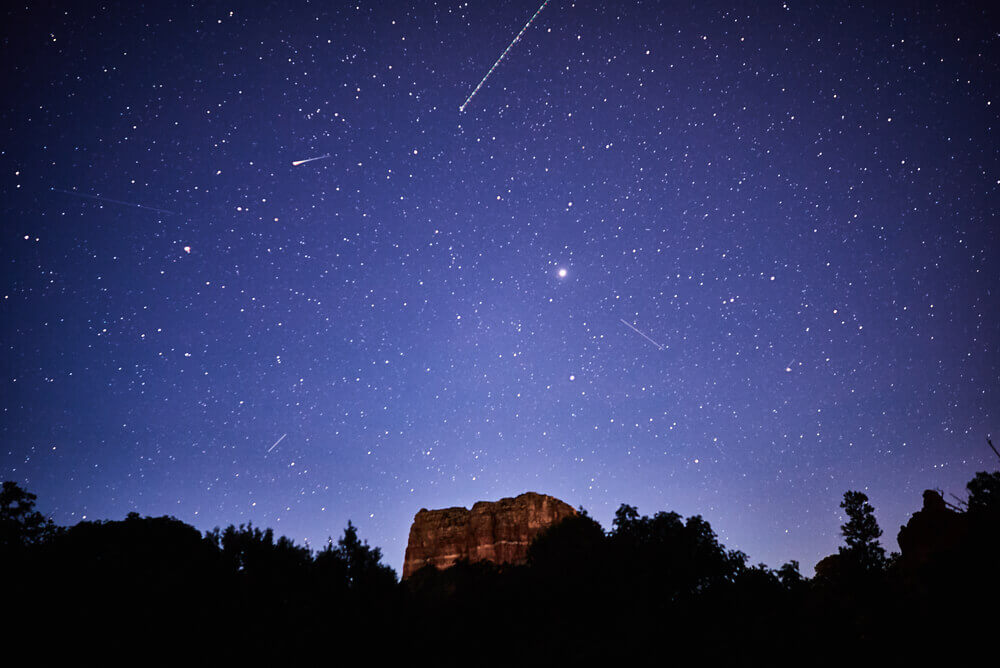 Sedona Stare up at a Star-Filled Sky