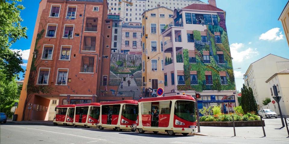 Chug around town on a tram