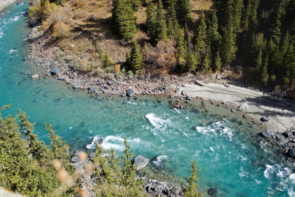 river rapids in kyrgyzstan