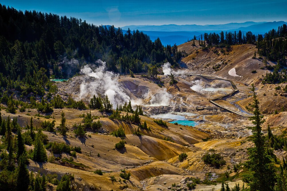 lassen volcanic national park on a caliornia road trip