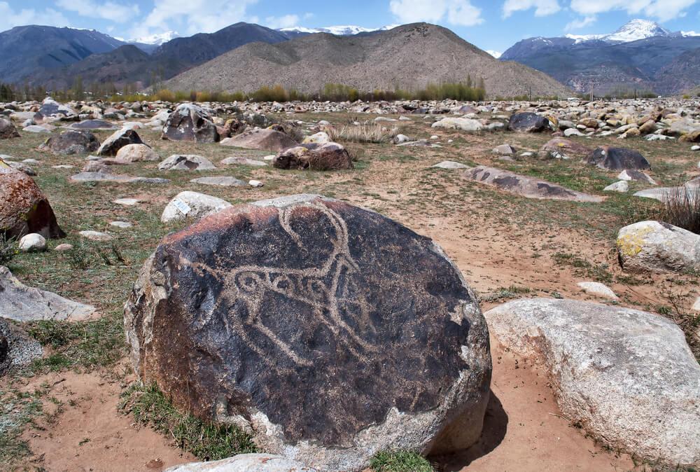 stone engravings kyrgyzstan