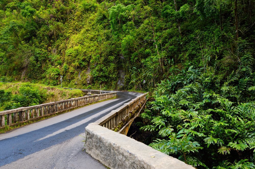 hana highway, hawaii - most beautiful roads in america