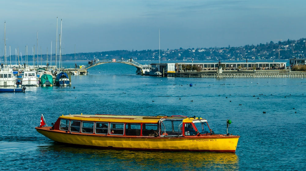 Ride the yellow taxi boats