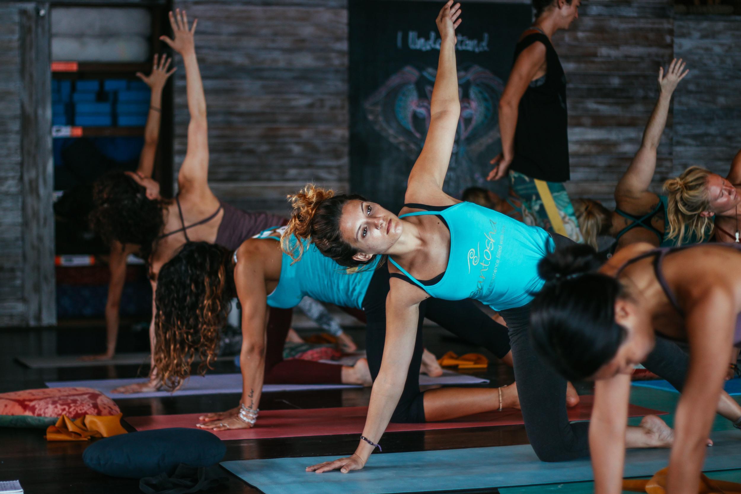 Yoga class @ Santosha