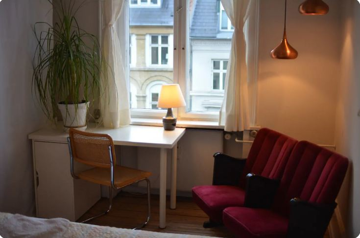 Library Room in Vesterbro Area