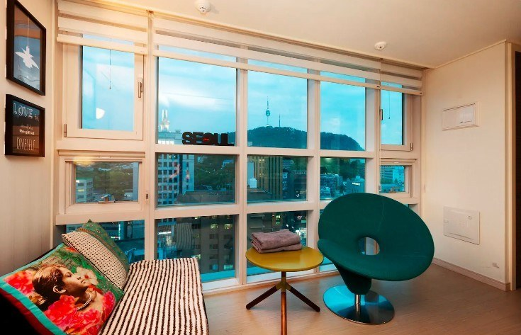 Myeong Dong apartment with views, Seoul