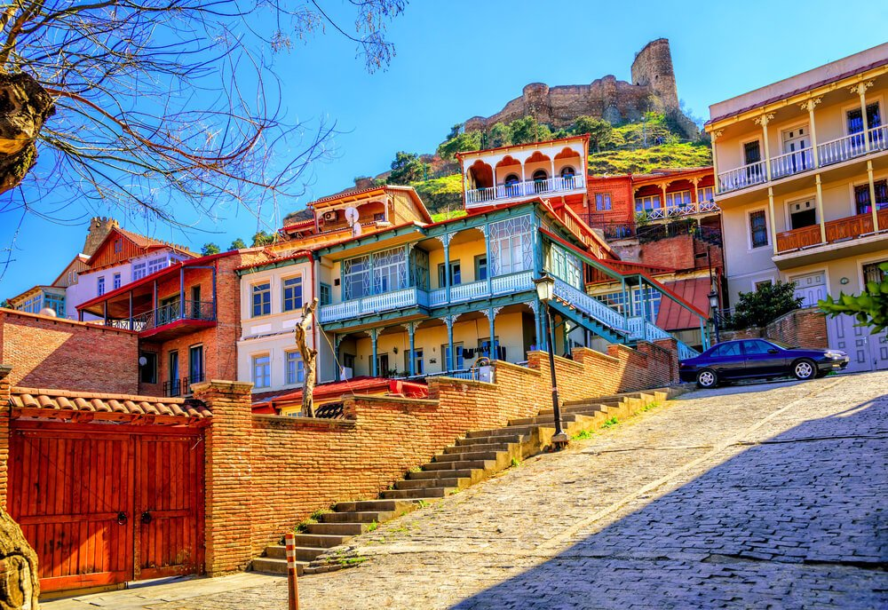 Tbilisi Old Town neighbourhood - best location for digital nomads in Georgia