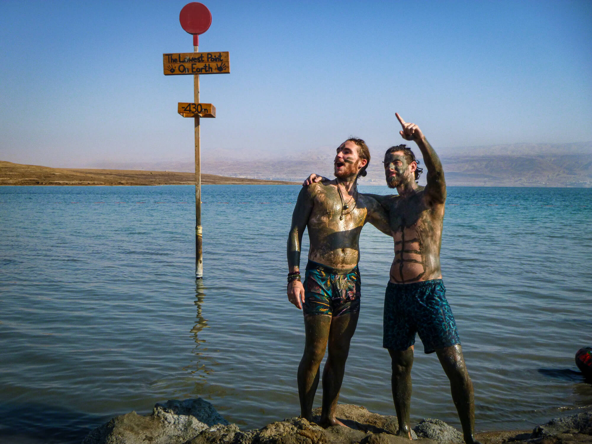 Two men at the Dead Sea - an Israel must-do
