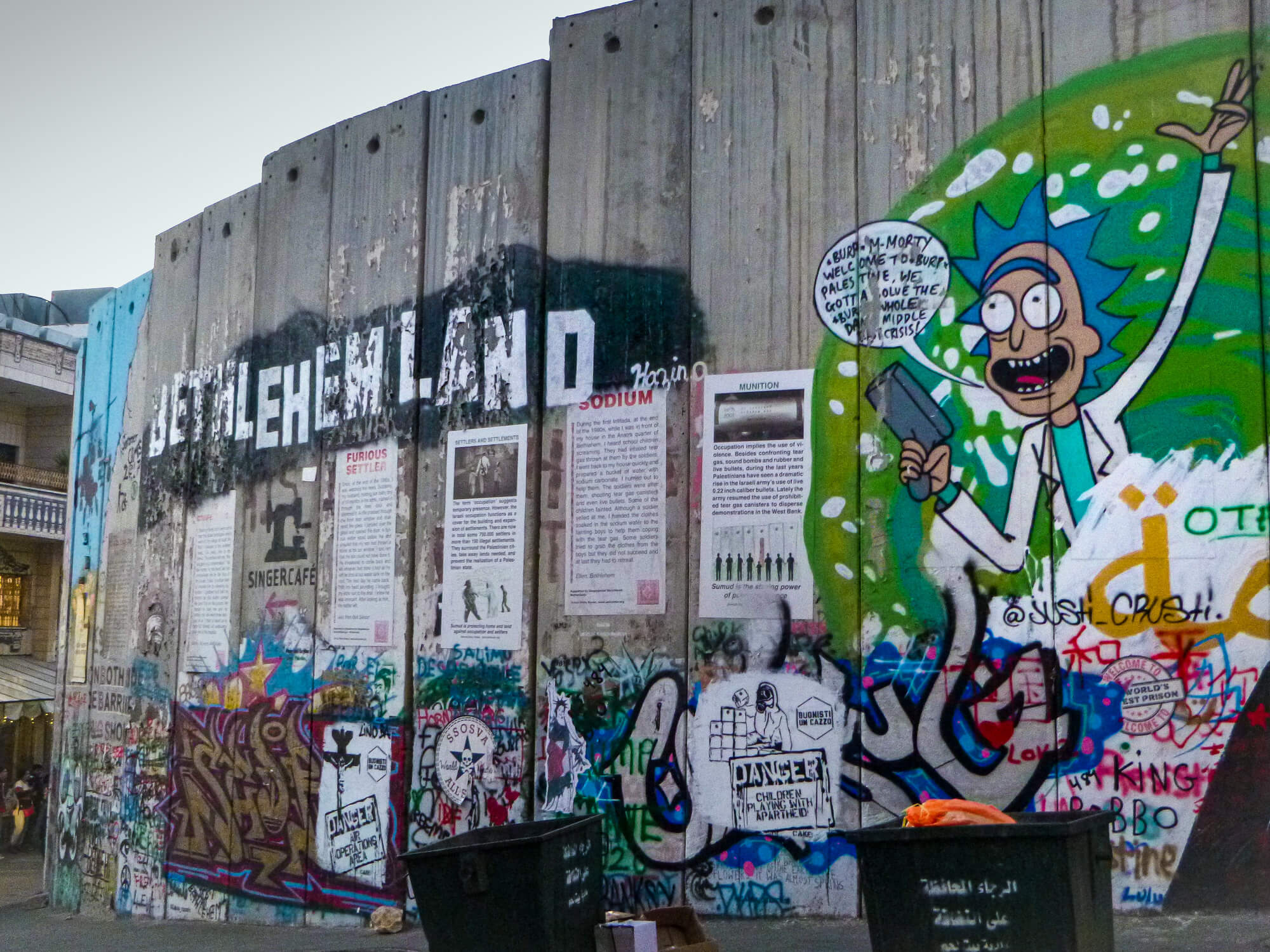 The occupation wall at Bethlehem - A famous place in Israel and Palestine