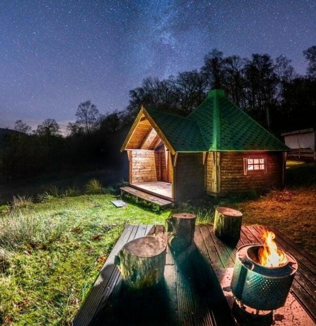 Pet friendly woodland log cabin Lake District