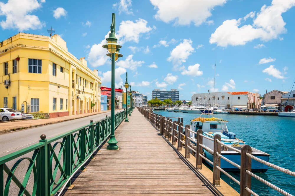 Small town in Barbados - top topical vacation destination in the Caribbeans