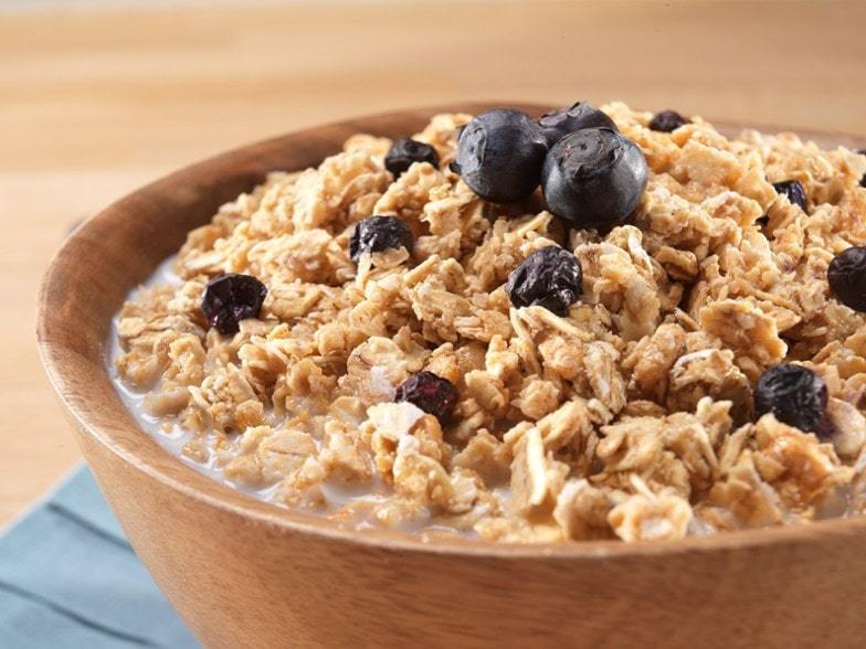 Mountain House-Granola with Milk and Blueberries