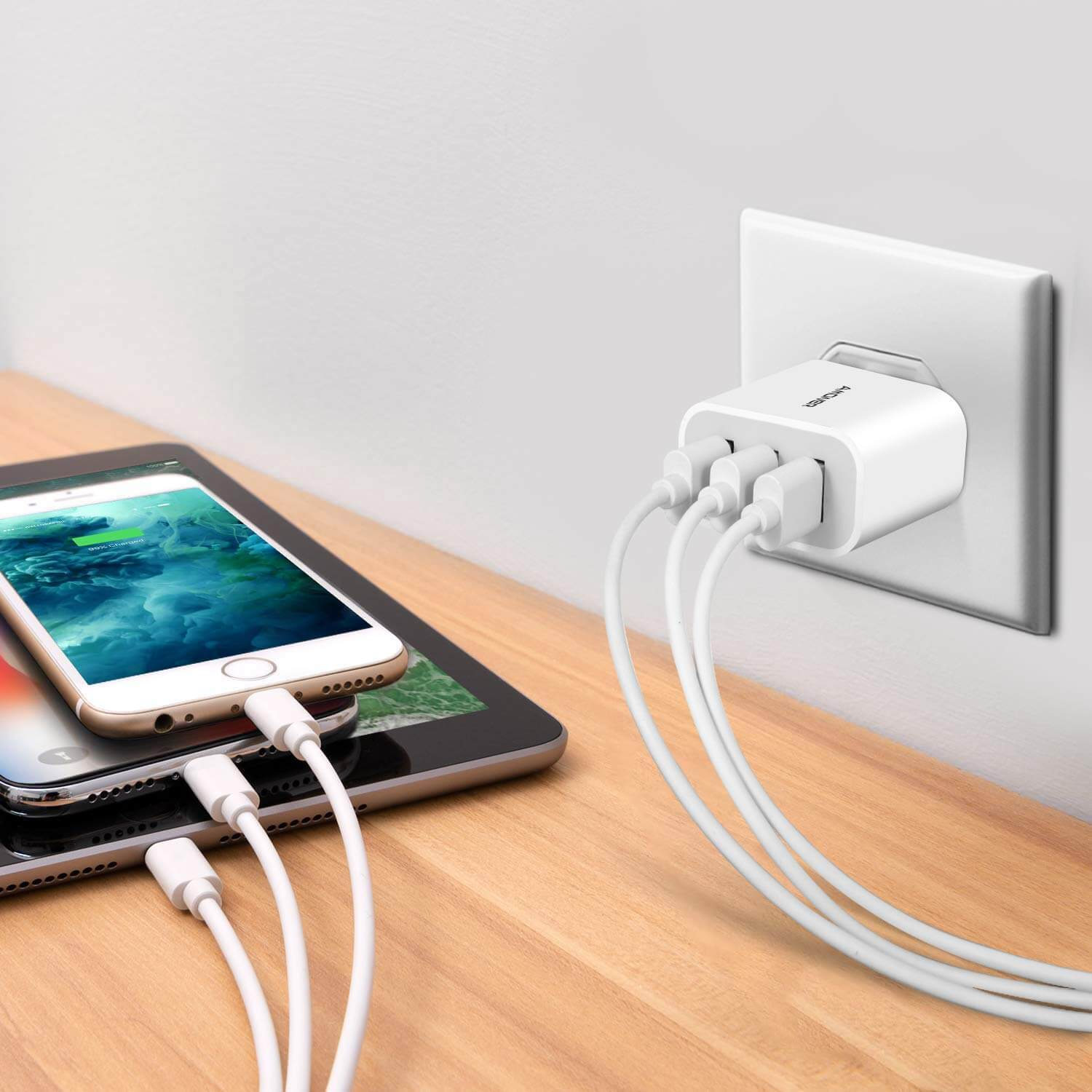 Multi-port charger - hostel gadget for convenience
